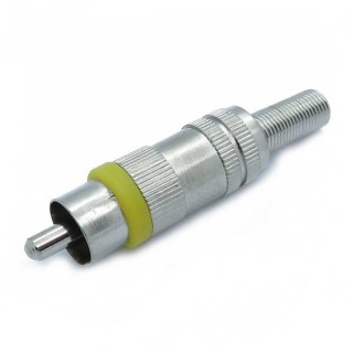 RCA Male Yellow Metal