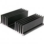 Heatsink Aluminium Black 100x110x33mm 1.3C/W