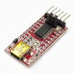 FT232RL USB Mini B to Serial Module Red