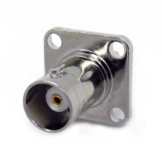 BNS03 BNC 4 hole Female Bulkhead Mount Connector