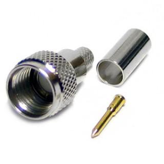 MUP01 Mini Male UHF Crimp Plug RG58 / 195 Type