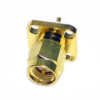 SMA13 Male 4 hole Chassis Mount SMA Connector