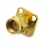 SMA51 Male 4 Hole Chassis Flange Mount Connector