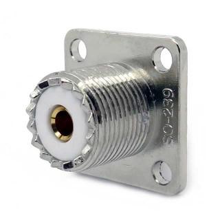 US02C Female UHF SO239 4 Hole Mount Connector