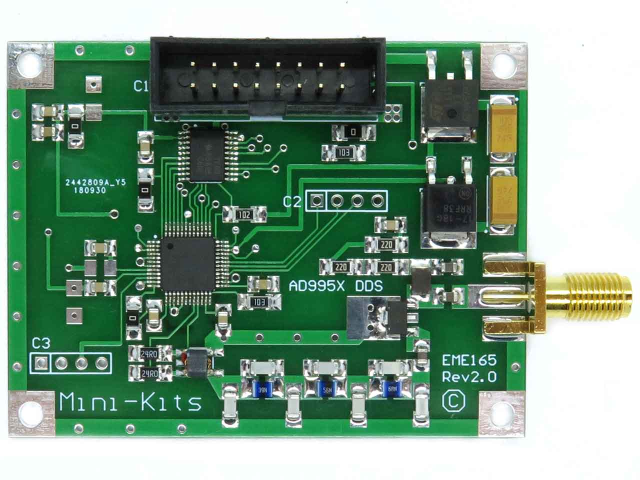 Eme165 R2 Dds Synthesizer Wire Up The Voltage Divider Circuit Shown Below On Your Board Pcb Top View