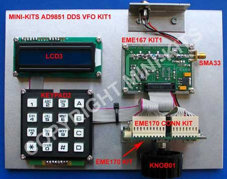 AD9851 DDS VFO KIT